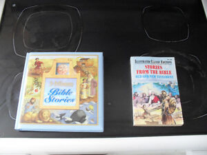 2 Kids Bible story books.  $5.00 for both.