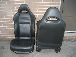 seats black leather 2004+ Acura RSX front seats