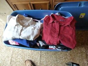 One fulll container of Womens Clothes
