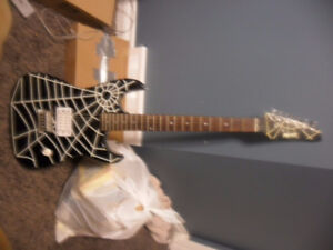 Rocker guitar spiderweb edition