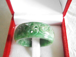 EXCELLENT DECORATION STONE JADE RING