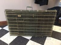 Large dog crate, heavy duty steel