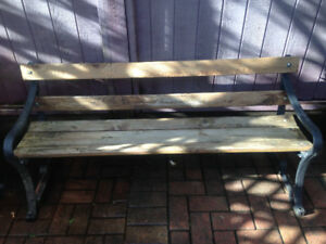 2 cast iron patio benches