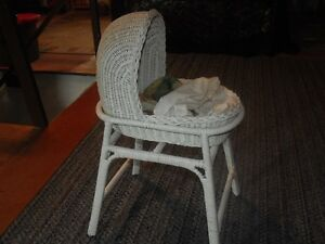 """Very old wicker doll cradle """"REDUCED"""""""