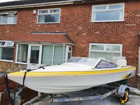 Speed boat for sale with 100hp suzuki engine