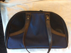 Pet carrier Faux Leather New!