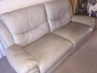 Leather reclining 3 seater and 2 seater sofas
