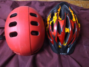Bike and Skateboarding helmets