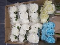 Colorfast foam roses for wedding and floristry