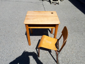 Childs Vintage School Desk