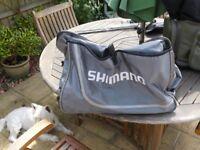 Selection of fishing kit bags 2 shimano. 1 Daiwa.