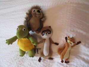 NOS VOISINS LES HOMMES FILM OVER THE HEDGE PELUCHES LOT 4