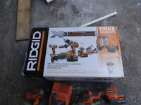 8 rigid tools    5 never been used  brand new in box.Great deal
