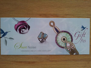 SILENT NOISE JEWELLERY GIFT CARDS