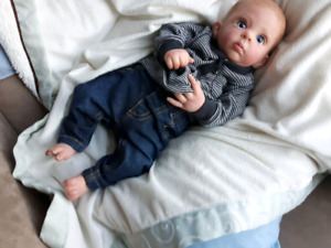Reborn doll ( baby has a blue pacifier if preferred)
