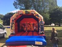 Super hero castle for hire and other inflatables