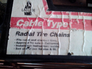 Tire chains cable style