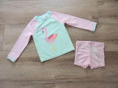 ♥ Kleinkinder-Badeset für Mädchen von H&M in Rosa/Grün Gr.86/92 ♥ (Kleinkind Bademode Für Mädchen)