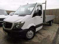 MERCEDES SPRINTER ALLOY DROPSIDE 313 CDI 2.1 TD LWB 2015 FSH ONE OWNER VGC