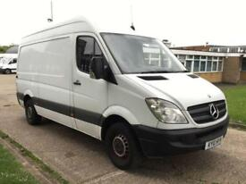 2010 10 MERCEDES-BENZ SPRINTER 2.1 313CDI MWB HIGH ROOF 130BHP. SECURITY DEAD LO