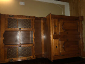 Wooden kitchen hutch for sale $200