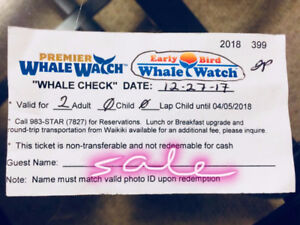 Whale Watch Tickets for 2 in Hawaii