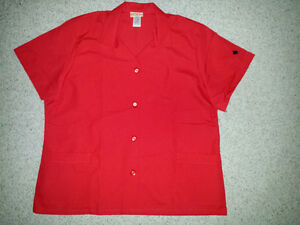 Red Shirt : Pouch pockets : NEW : Size XL adult :