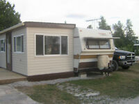 TRAILER WITH SUNROOM LOCATED IN STOKES BAY, ONTARIO
