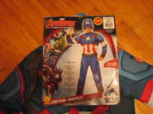 Captain America Kids Costume Size Large