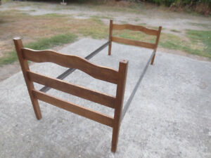 Standard single size bed frame