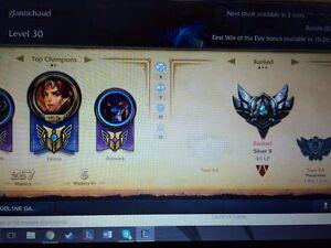 Compte league of legend a vendre