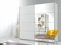 **7-DAY MONEY BACK GUARANTEE**- Victor Massive Sliding Door Wardrobe - BRAND NEW! RRP��399!!