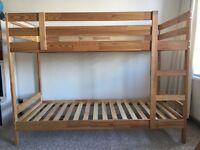 Pine ikea bunk bed frame