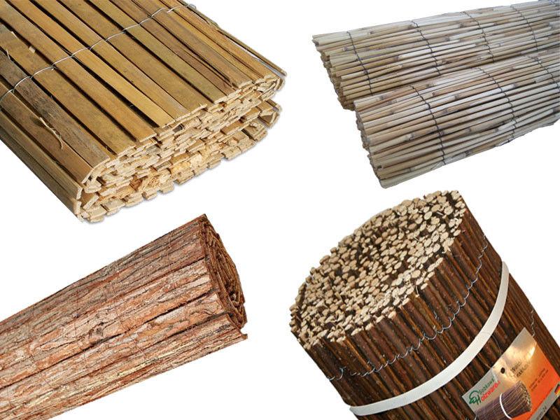 Bambusmatte Weidenmatte Rindenmatte Schilfrohrmatte Naturmatte Sichtschutz Zaun