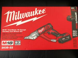 M18™ Cordless 18 Gauge Double Cut Shear Kit
