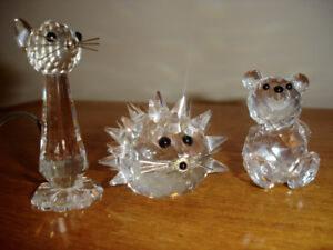 SWAROVSKI  FIGURINES - LARGER and BOXED