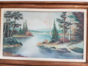 Paul (Paavo) Hyttinen Misty lake painting