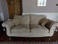 REDUCED elegant 2 seater sofa in washable chenille