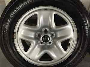 Mazda CX 5 Original steel wheels & caps + Michlen X ice winter