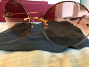 6c353126068 18kt Yellow Gold Cartier C dècor sunglasses