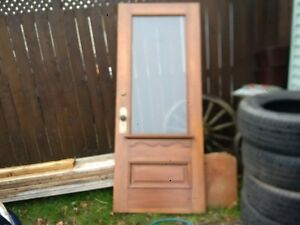 Antique Single Glass Pane Door