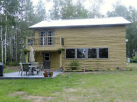 Log Home on 80 Acres between Westlock and Slave Lake