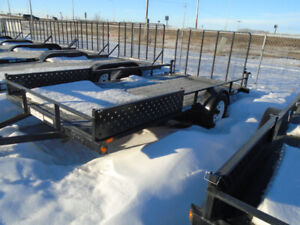 14' HD Utility/ATV Trailer 1-5200 lbs axle and Brakes! ALL IN!