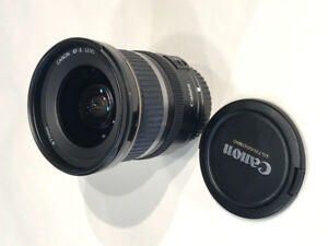 Canon EF-S 10-22mm 1:3.5-4.5 wide angle zoom lens - Mint Cond.