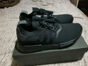 """ADIDAS NMD PK R1 """"JAPAN"""" TRIPLE BLACK SIZE 11 $350 DS WITH TAGS"""