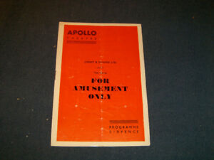 FOR AMUSEMENT ONLY-APOLLO THEATRE PROGRAM-6/1956-VINTAGE