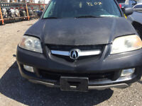 2004 BLACK 7 SEATER LEATHER 3.5L ACURA MDX FOR PARTS