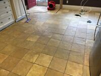 Slate tile cleaning and professional sealing