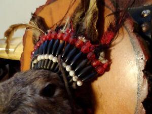 hey jack MOUNT Native Indian beaded headdress OMG lol UNIQUE Cambridge Kitchener Area image 9