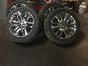 rims and tires f150 22'' chrome limited wheels